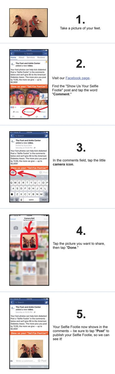 How to post a Selfie Footie with your smart phone